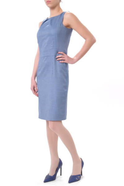 Класическа рокля в бизнес стил от фин жакард
